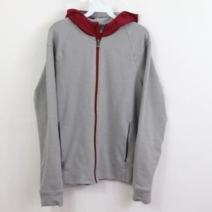 Lululemon Mens Medium Hooded Sweatshirt Zip Gray